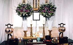 一日葬・密葬祭壇